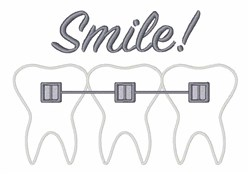 Braces Smile embroidery design