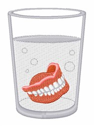 Dentures Glass embroidery design