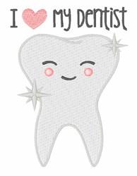 Love My Dentist embroidery design