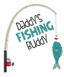Fishing Buddy embroidery design