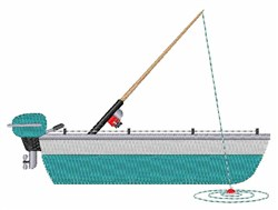 Fishing Boat embroidery design