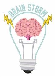 Brain Storm embroidery design