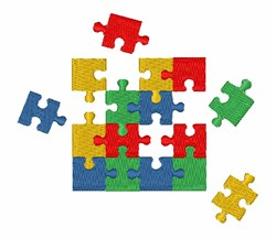Autism Puzzle embroidery design