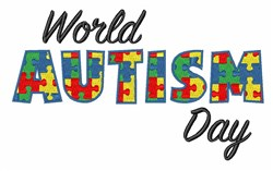 World Autism Day embroidery design