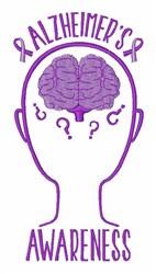 Alzheimers Awareness embroidery design