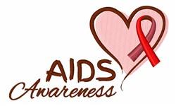 Aids Awareness embroidery design