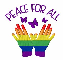 Peace For All embroidery design
