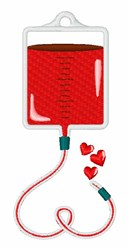 Blood Donation embroidery design