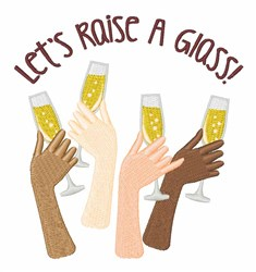 Raise A Glass embroidery design