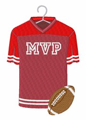 Football MVP Jersey embroidery design