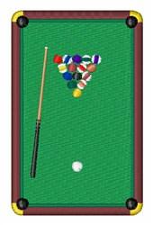Billiards Table embroidery design