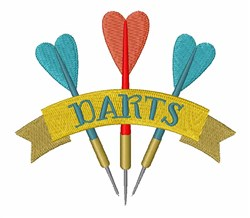 Darts Game embroidery design