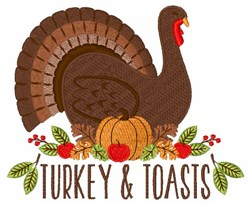 Turkey & Toasts embroidery design