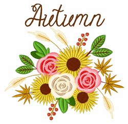 Autumn Bouquet embroidery design