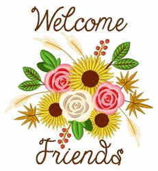 Welcome Harvest Bouquet embroidery design