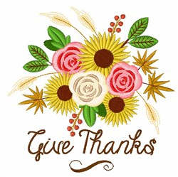 Give Thanks Bouquet embroidery design