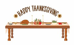 Happy Thanksgiving Dinner embroidery design