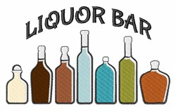 Liquor Bar embroidery design