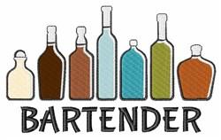 Bartender Bottles embroidery design