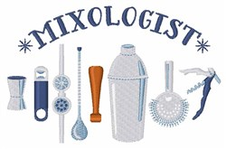 Mixologist Tools embroidery design