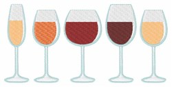 Glasses Of Wine embroidery design