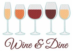 Wine & Dine embroidery design