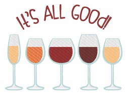 All Good Wine embroidery design