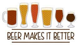 Beer Makes It Better embroidery design