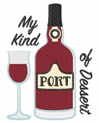 Port Dessert Wine embroidery design