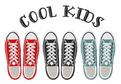 Cool Kids Shoes embroidery design