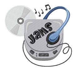 Jammin CD Walkman embroidery design