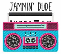 Jammin Boom Box embroidery design