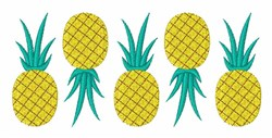 Pineapple Fruit embroidery design