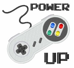 Power Up Controller embroidery design