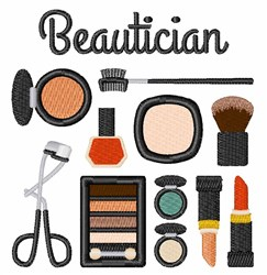 Beautician Kit embroidery design