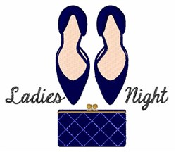 Ladies Night embroidery design