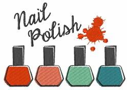 Nail Polish embroidery design