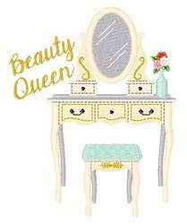 Beauty Queen Vanity embroidery design