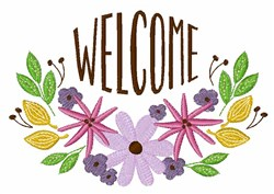 Welcome Floral Border embroidery design
