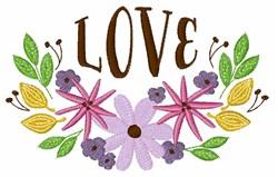 Love Floral Border embroidery design