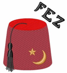 Fez Hat embroidery design