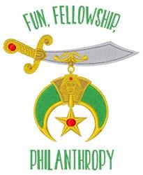 Fun Fellowship Philanthropy embroidery design