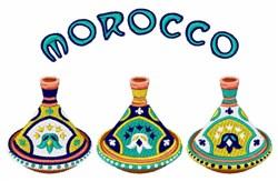 Morocco Tagines embroidery design