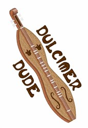 Dulcimer Dude embroidery design