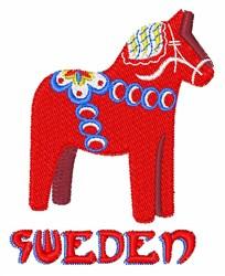 Sweden Dala Horse embroidery design