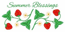 Summer Blessings Border embroidery design