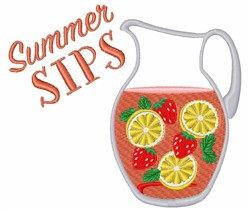 Summer Sips embroidery design