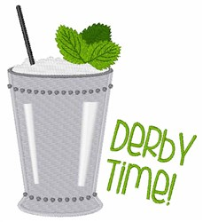 Derby Time embroidery design