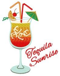Tequila Sunrise embroidery design
