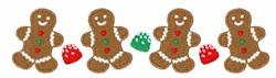 Gingerbread Border embroidery design